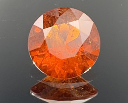 ROUND 2.30 CT Spessartite Garnet Gemstone top Luster