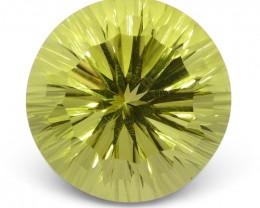 9.39ct Round Lemon Citrine Fantasy/Fancy Cut - $1 No Reserve Auction