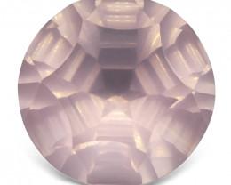 12.65ct Round Rose Quartz Fantasy/Fancy Cut