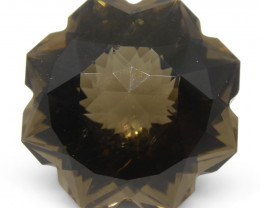 12.27ct Flower Smoky Quartz Fantasy/Fancy Cut- $1 No Reserve Auction