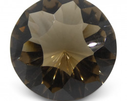 8.7ct Round Smoky Quartz Fantasy/Fancy Cut