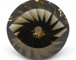 20.46ct Round Smoky Quartz Fantasy/Fancy Cut