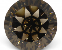 19.97ct Round Smoky Quartz Fantasy/Fancy Cut
