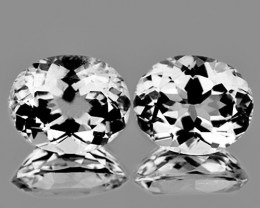 11x9 mm Oval 2 pcs 9.87cts White Topaz [VVS]