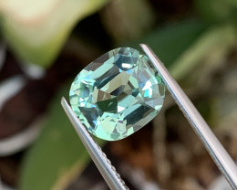 2.97 Cts Seafoam Color AAA Grade Natural Tourmaline VVS Custom