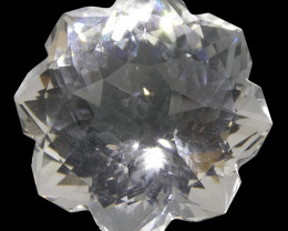 21.01ct Flower White Quartz Fantasy/Fancy Cut
