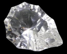 8.94ct Pear White Quartz Fantasy/Fancy Cut- $1 No Reserve Auction