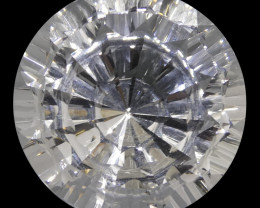 25.91ct Round White Quartz Fantasy/Fancy Cut