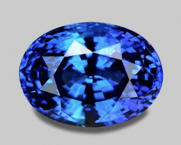 GIA certified, exquisite top gem quality vivid blue Ceylon sapphire.