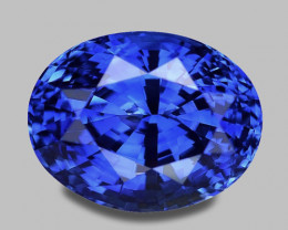 High gem quality, exquisite oval cut natural vivid blue sapphire.