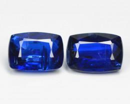 Kyanite 2.10 Cts 2 Pcs Fancy Royal Blue Color Natural Gemstone Pair