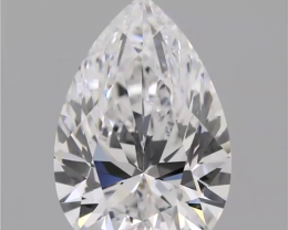 EXCLUSIVE GIA certified Investment grade Diamond , 3.42 cts , D VVS1 , Pear