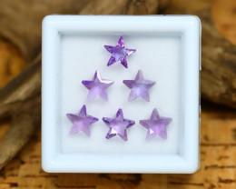 Amethyst 2.81Ct Calibrated Star 6x6mm Natural Purple Amethyst Lot C2410
