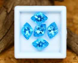 Swiss Topaz 9.38Ct Calibrated Fancy 10x7mm Natural Blue Topaz Lot C2418