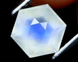 Blue Moonstone 1.16Ct Master Cut Natural Ceylon Icy Moonstone AT0424
