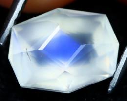 Blue Moonstone 2.59Ct Master Cut Natural Ceylon Icy Moonstone AT0430