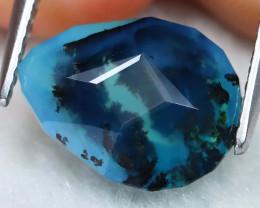 Paraiba Opal 2.67Ct Natural Precision Dendrite Peruvian Blue Opal AT0437