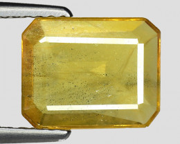 2.05 Cts Yellow Sapphire Sparkling Intense SY2
