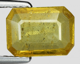 1.51 Cts Yellow Sapphire Sparkling Intense SY10