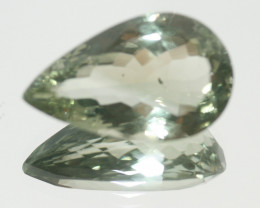 21.5 Ct  Prasiolite  Faceted Drop 25x15mm.-Brazil (SKU479 )