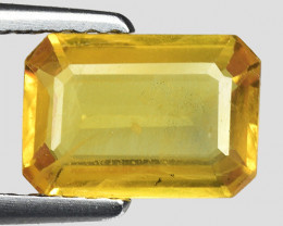 1.58 Cts Yellow Sapphire Sparkling Intense SY23