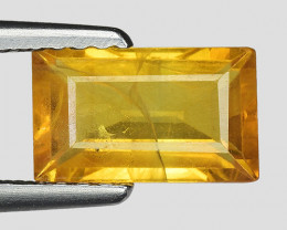 1.33 Cts Yellow Sapphire Sparkling Intense SY27