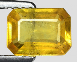 1.24 Cts Yellow Sapphire Sparkling Intense SY33