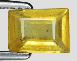 0.93 Cts Yellow Sapphire Sparkling Intense SY35