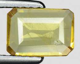 0.72 Cts Yellow Sapphire Sparkling Intense SY37