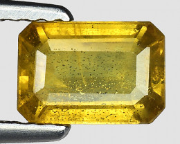 1.27 Cts Yellow Sapphire Sparkling Intense SY40