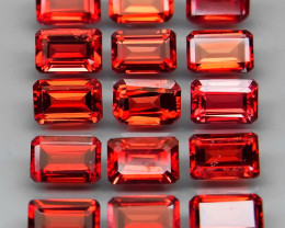11.60  ct. 6x4 mm Natural Red  Rhodolite Garnet Africa - 15 Pcs