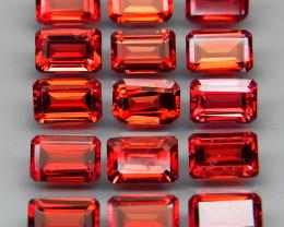 11.60  ct. 6x4 mm Natural Red  Rhodolite Garnet Africa - 15 Pcs