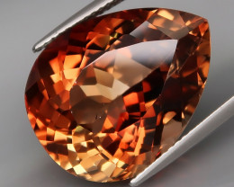 25.21  ct. 100% Natural Earth Mined Topaz Orangey Brown Brazil