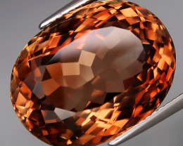 24.01 ct. 100% Natural Earth Mined Topaz Orangey Brown Brazil