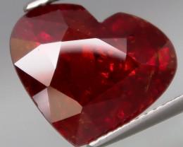 10.82 Ct. Best Color! Natural BIG Imperial Spessartite Garnet Africa HEART