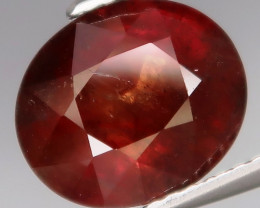 4.46Ct.RARE COLOR! Natural BIG Imperial Red UNHEATED Sapphire Tanzania