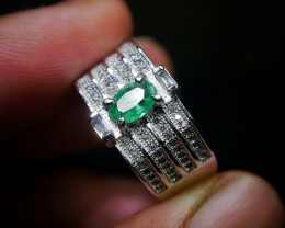 23.55 CT Natural Emerald Jewelry Ring