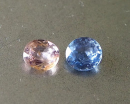 1.29ct unheated sapphires
