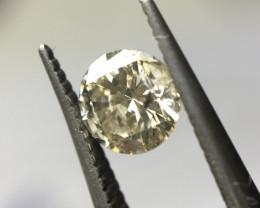 0.27 ct Fancy Light Brown I2 Round brilliant Diamond