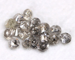 1.02Ct 2.3mm Natural Calibrate Size Salt And Pepper Diamonnd Lot BM0376