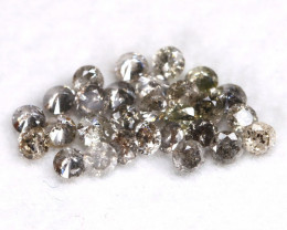 1.02Ct 2.0mm Natural Calibrate Size Salt And Pepper Diamonnd Lot BM0379