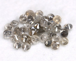 1.02Ct 1.8mm Natural Calibrate Size Salt And Pepper Diamonnd Lot BM0381