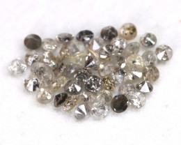 1.04Ct 1.6mm Natural Calibrate Size Salt And Pepper Diamonnd Lot BM0383