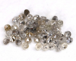 1.04Ct 1.5mm Natural Calibrate Size Salt And Pepper Diamonnd Lot BM0384