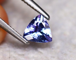 Tanzanite 0.93Ct Natural VVS Purplish Blue Tanzanite  ER112/D3