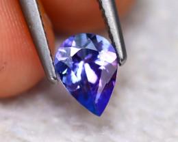 Tanzanite 0.90Ct Natural VVS Purplish Blue Tanzanite ER115/D3