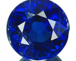 1.49 Cts Natural Royal Blue Kyanite 6.5mm Round Cut Nepal