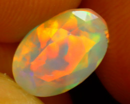 Welo Opal 1.51Ct Natural Ethiopian Play of Color Opal ER83/A3