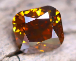 Champagne Orange Diamond 0.20Ct Untreated Genuine Fancy Diamond A2518