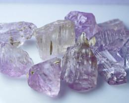 208 CT Natural - Unheated Pink Kunzite Crystal Rough Lot